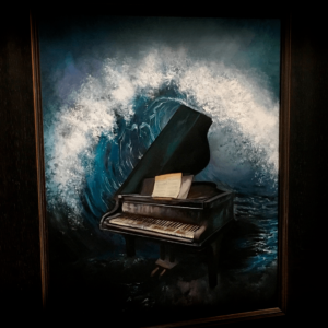 Surreal Piano Painting