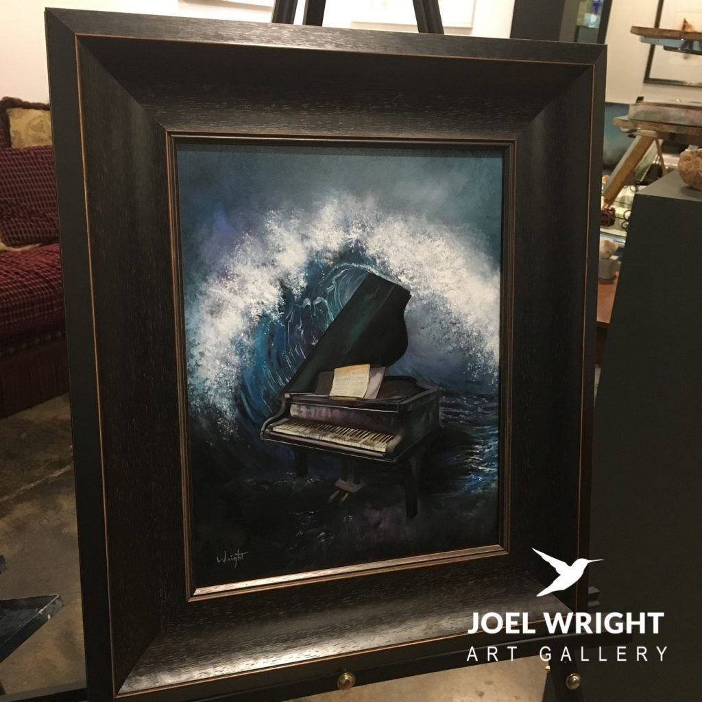 surreal piano oil painting - Joel Wright
