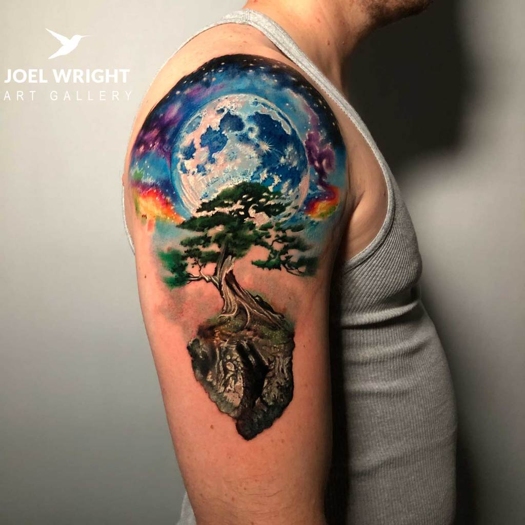 Surreal Tree Tattoo