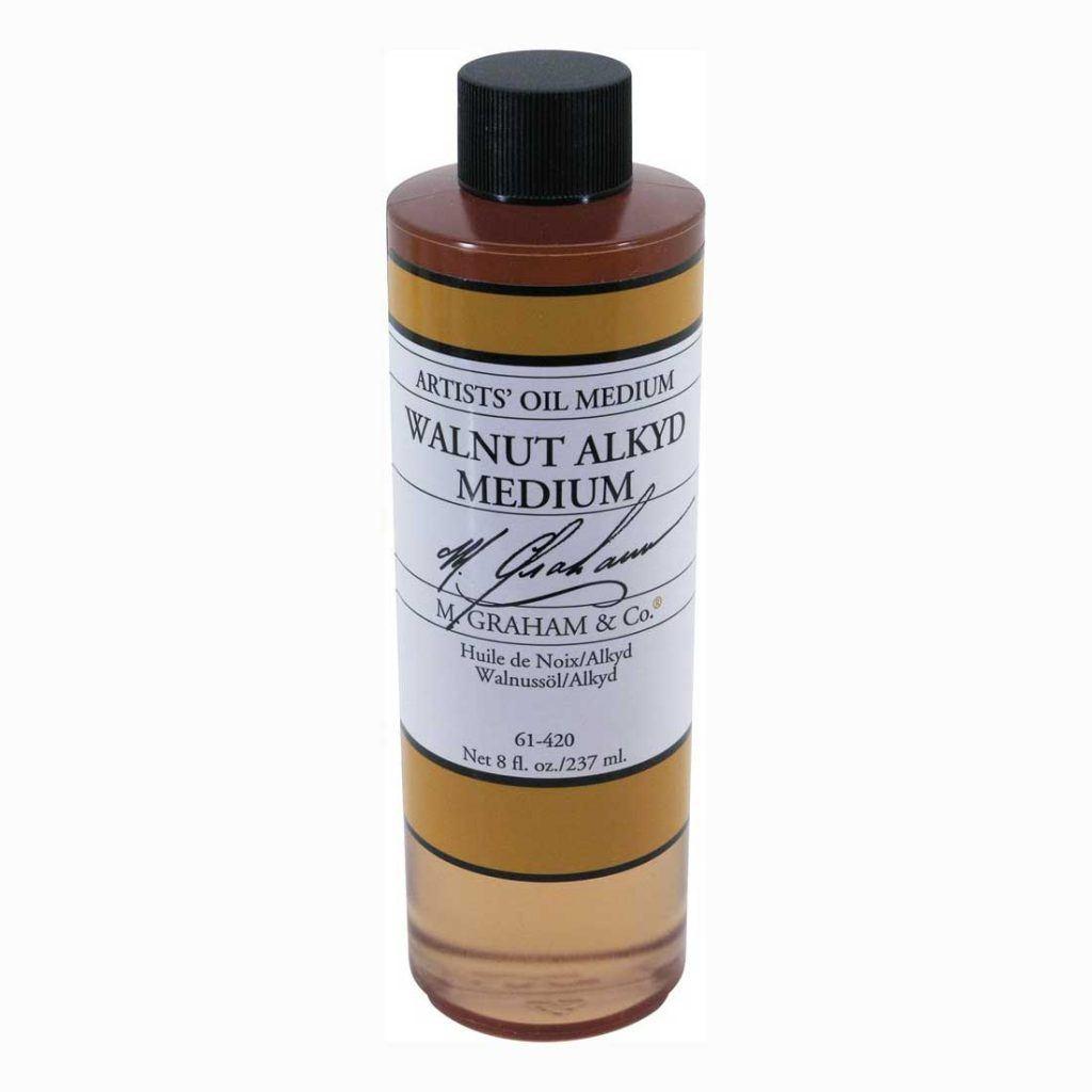 Show bottle of M Graham Walnut Alkyd Medium