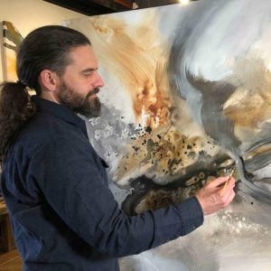 Joel Painting an Abstract
